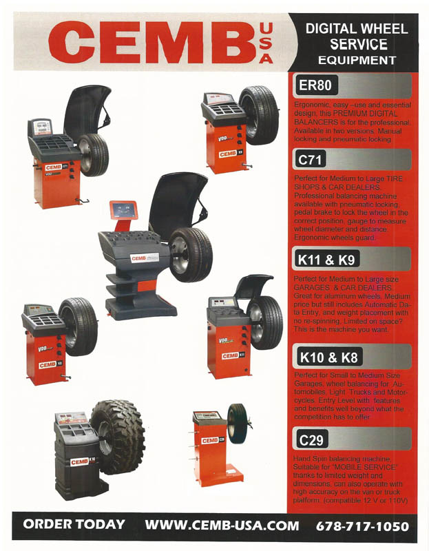 DIGITAL WHEEL SERVICE EQUIPMENT PAGE 1