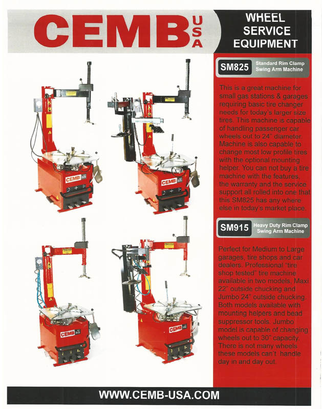 WHEEL SERVICE EQUIPMENT PAGE 1